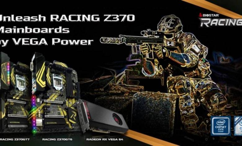 Photo of BIOSTAR Vega 64 and RACING Z370GT6