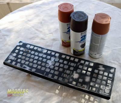 Modding Three Gram Keyboard Plates for Tesoro to Giveaway worn and rusted tesoro keyboard 1
