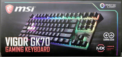 MSI Vigor GK70 Gaming Keyboard