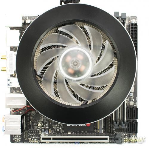 Cooler Master MASTERAIR G100M CPU Cooler installed