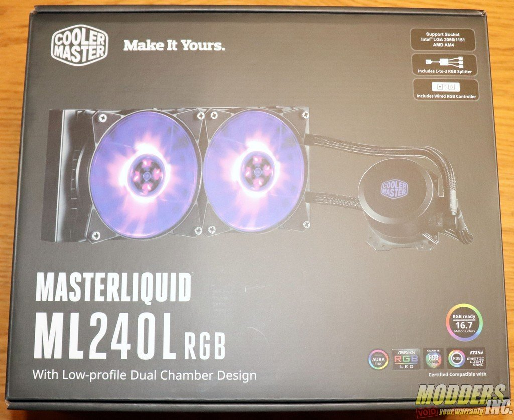 Cooler Master MasterLiquid ML240L RGB Review — Modders-Inc