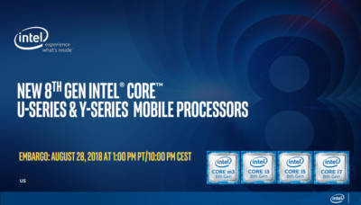 Intel Launches 8th Generation Y and U series Mobile Processors intel1