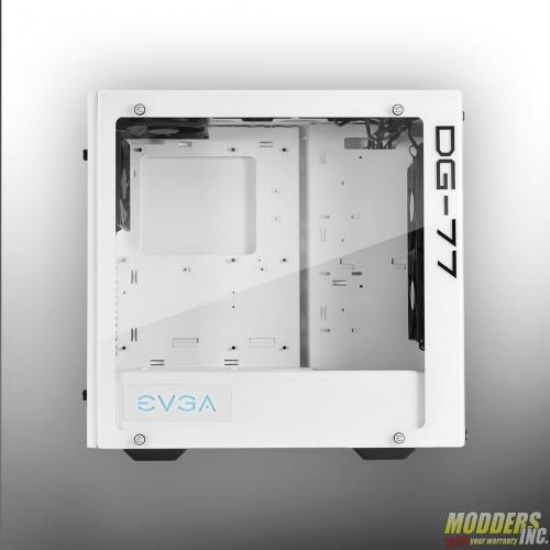 EVGA DG-77 Alpine White Midtower Review Case, EVGA, Gaming, midtower, tempered glass, vertical GPU, white 1