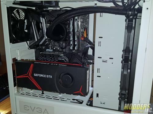 EVGA DG-77 Alpine White Midtower Review Case, EVGA, Gaming, midtower, tempered glass, vertical GPU, white 14