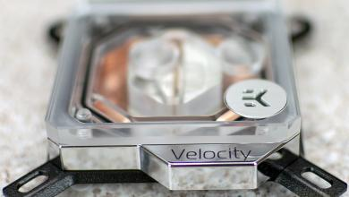 Photo of EKWB Velocity CPU and Vector GPU Water Block Preview.