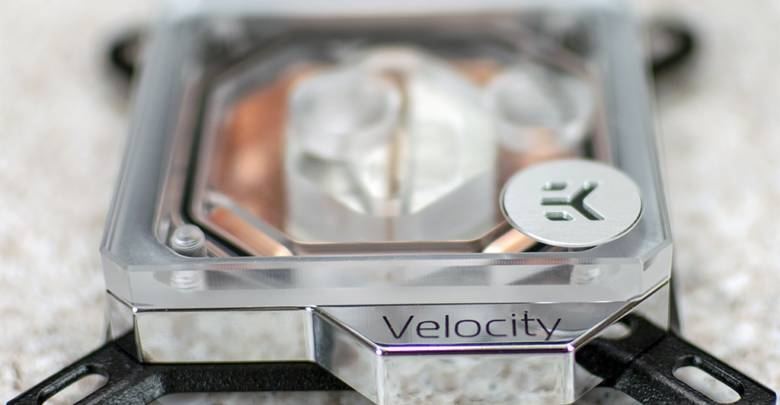 Photo of EKWB Velocity CPU and Vector GPU Water Block Preview.