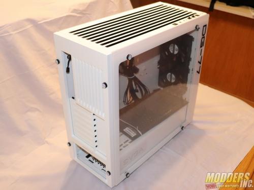 EVGA DG-77 Alpine White Midtower Review Case, EVGA, Gaming, midtower, tempered glass, vertical GPU, white 3