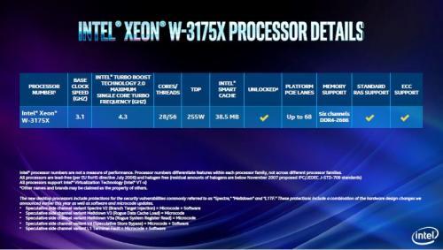 Intel Announces New X-Series Processors and an Unlocked 28 Core Xeon 28 core, i7, I9, I9 9980XE, Unlocked, W-3175X, X-Series, x299, Xeon