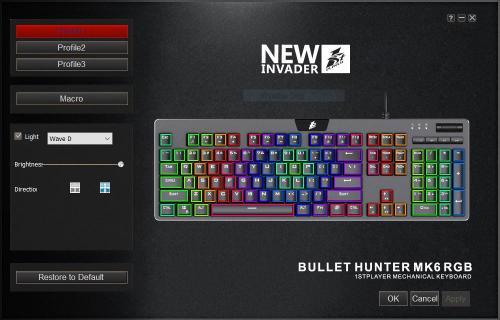 1St Player MK6 Bullet Hunter Keyboard Cherry Blue, Gaming Keyboard, Keyboard, macro, mechanical, OUTEMU, OUTEMU Blue, rgb 1