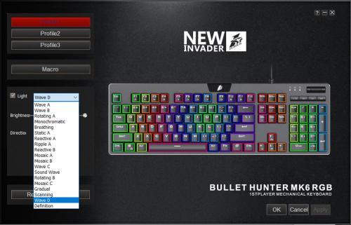 1St Player MK6 Bullet Hunter Keyboard Cherry Blue, Gaming Keyboard, Keyboard, macro, mechanical, OUTEMU, OUTEMU Blue, rgb 2