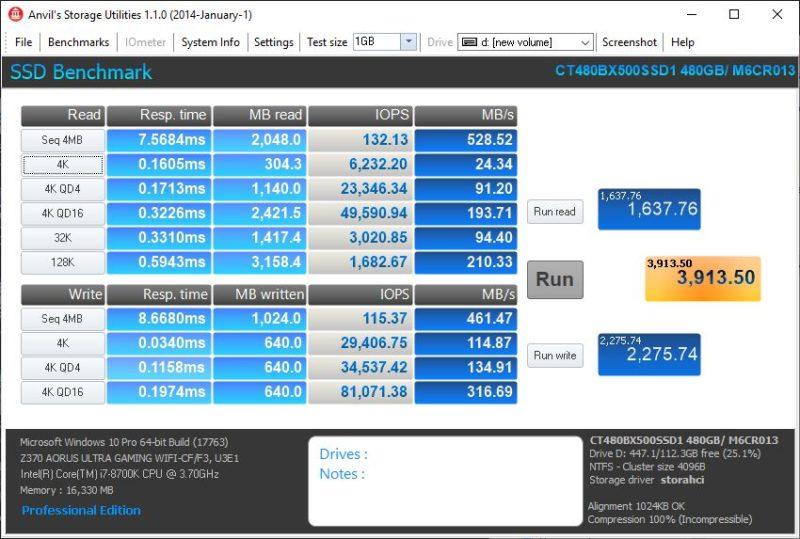 Crucial BX500 480GB SATA SSD Review 480gb, BX500, Crucial, Crucial Storage Executive, SATA SSD, SSD 8