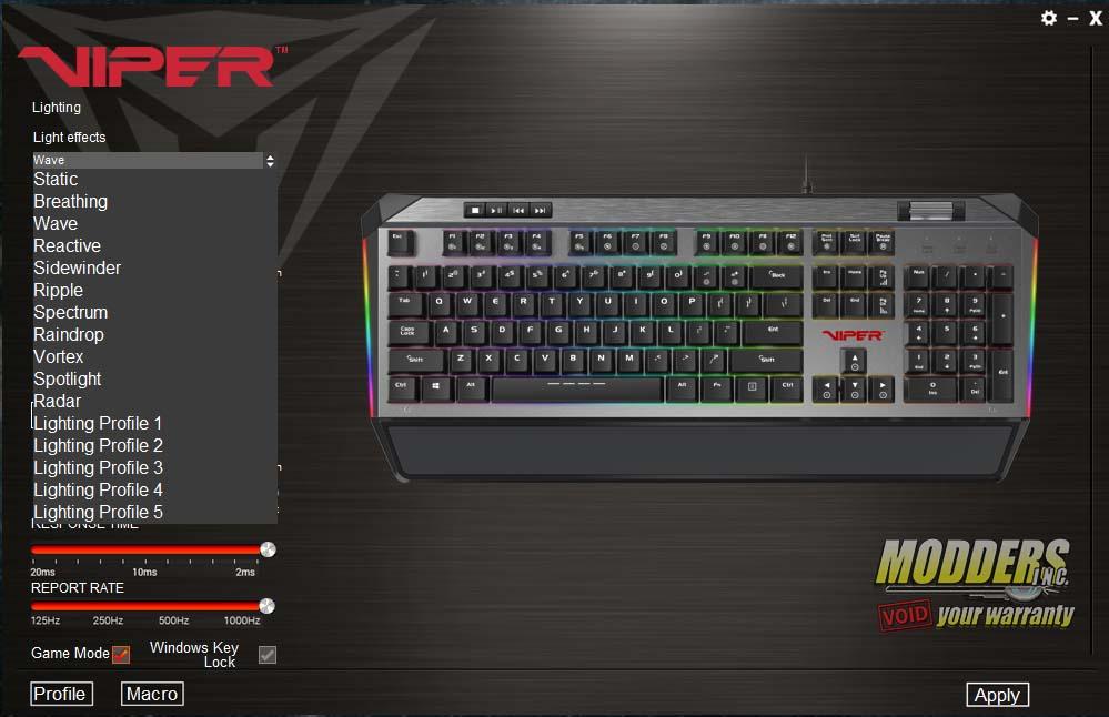 Patriot Viper V765 RGB Mechanical Keyboard Review — Page 4
