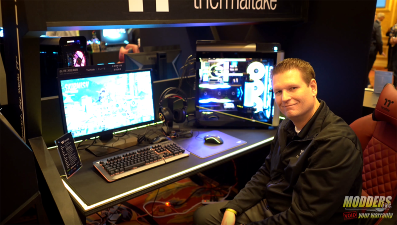 Thermaltake at CES 2019 desk