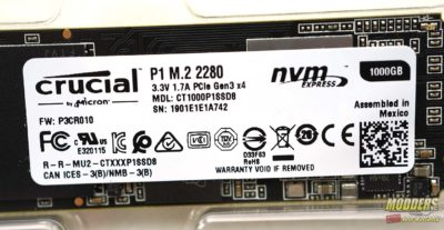 Crucial P1 NVMe M.2 SSD Review Crucial P1, Curical, NVMe SSD, P1, PCIe NVMe SSD, Storage Review 1