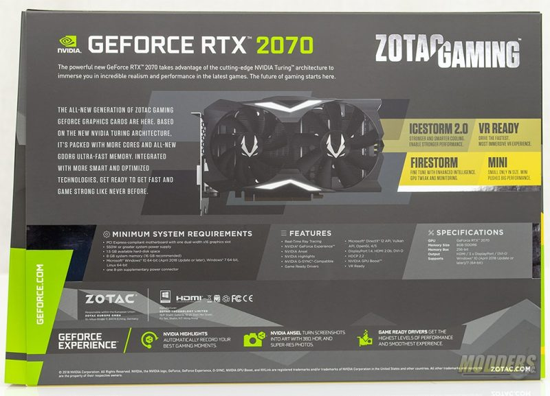 ZOTAC GAMING GeForce RTX 2070 MINI Review DSC 2196