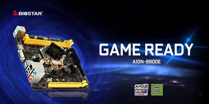 BIOSTAR Launches Gaming-Ready A10N-8800E SoC Motherboard!