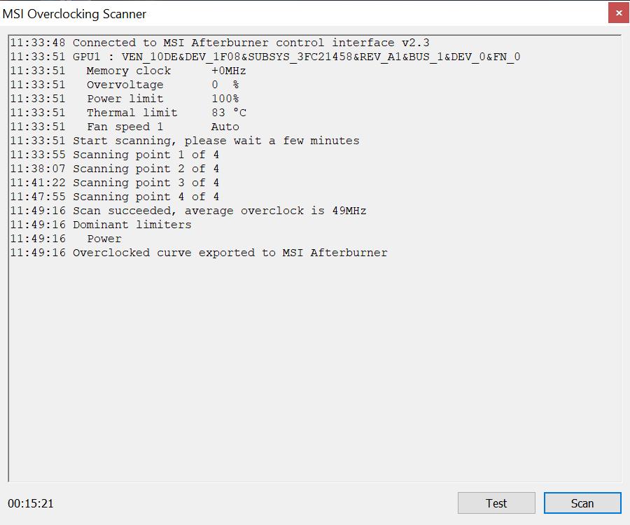 Gigabyte RTX 2060 Gaming OC 6G AfterburneScannerPNG