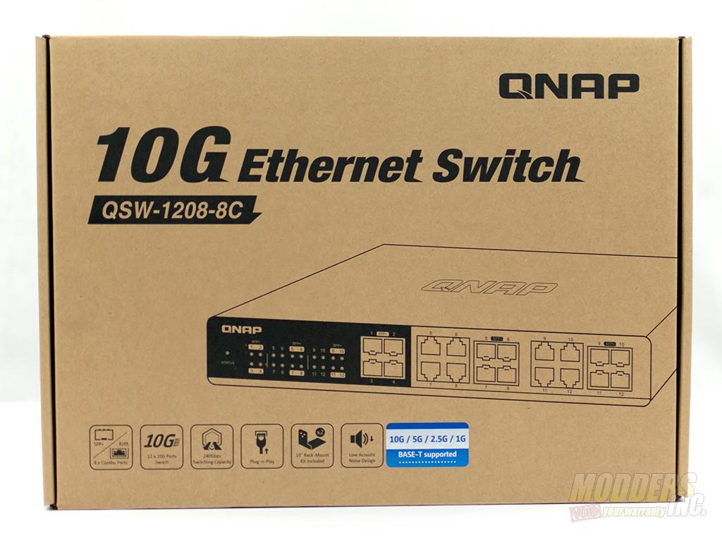 QNAP QSW-1208-8C-US 12-Port Unmanaged 10GbE Switch DSC 2604
