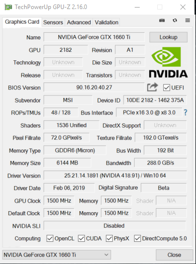 MSI Gaming X Geforce GTX 1660 TI Review — Page 9 of 10 — Modders-Inc
