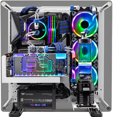 Thermaltake announces their TT Liquid Cooled Gaming Systems at PAX East. Custom PCs, modders-inc, PAX, pax east, PAX East 2019, Thermaltake, Thermaltake PAX East, TT LCGS, Watercooled PCs 3