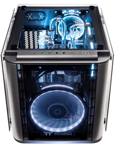 Thermaltake announces their TT Liquid Cooled Gaming Systems at PAX East. Custom PCs, modders-inc, PAX, pax east, PAX East 2019, Thermaltake, Thermaltake PAX East, TT LCGS, Watercooled PCs 4