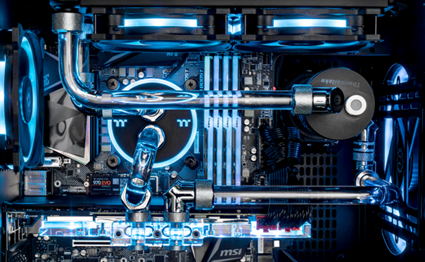 Thermaltake announces their TT Liquid Cooled Gaming Systems at PAX East. Custom PCs, modders-inc, PAX, pax east, PAX East 2019, Thermaltake, Thermaltake PAX East, TT LCGS, Watercooled PCs 6