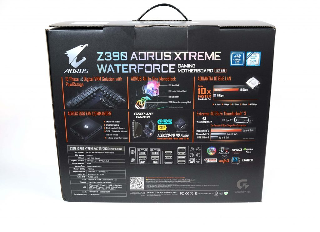 Aorus Xtreme Waterforce Motherboard Review DSC00222