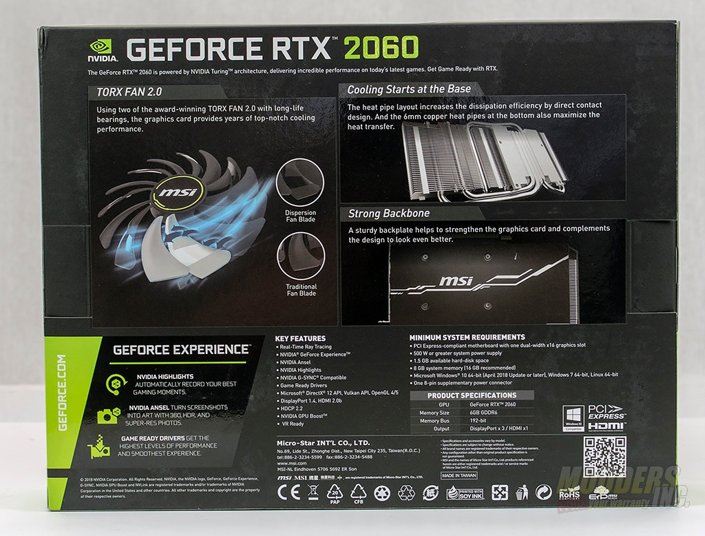 MSI GeForce RTX 2060 Ventus 6G OC Graphics Card Review — Modders-Inc