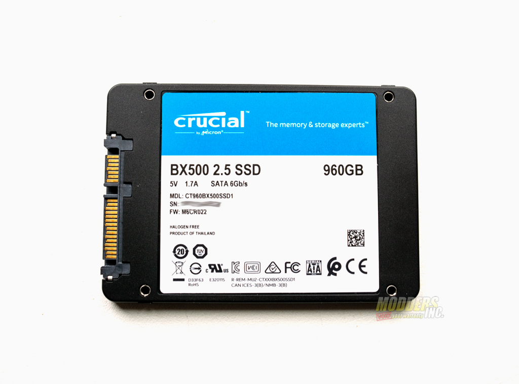 """Crucial BX500 960 GB SSD Review 2.5"""" SSD, 960 gb BX500, BX500 review, Crucial BX500, Modders-Inc SSD Review, SSD Review 2"""