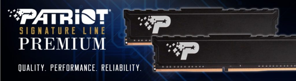 Patriot Memory launches new Signature Premium DDR4 UDIMM memory with heatshield