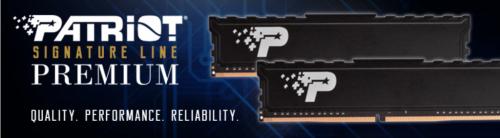 Patriot Memory launches new Signature Premium DDR4 UDIMM memory with heatshield ddr4, Patriot 1