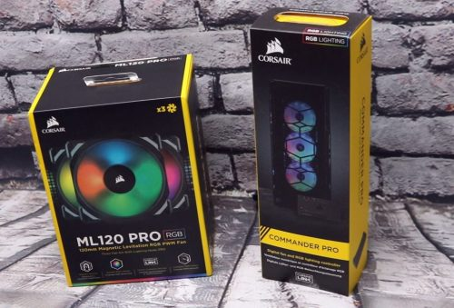 Corasir ML120 Pro Fans and Commander Pro