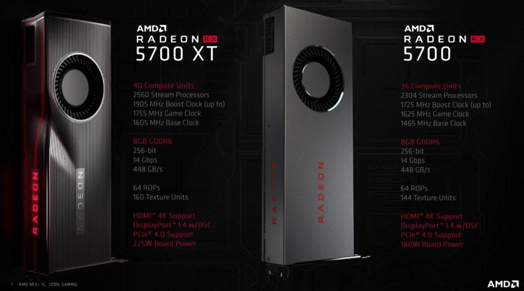 AMD Radeon RX 5700XT & Radeon RX 5700 Review Navi 9