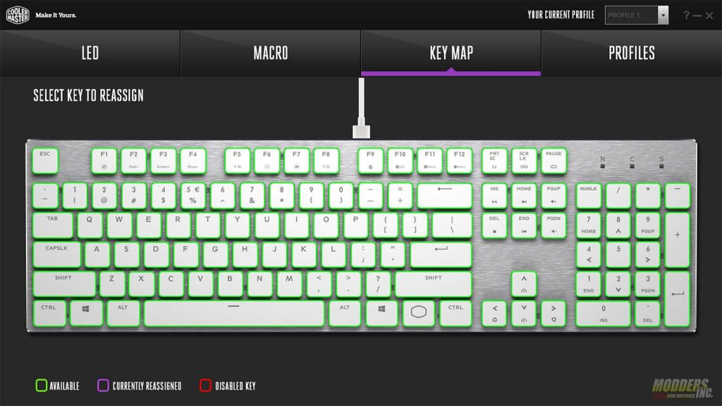 CM portal key remap