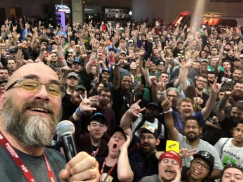 Modders Inc Raffle Winners at QuakeCon 2019 QuakeCon Modders Inc Selfie 1