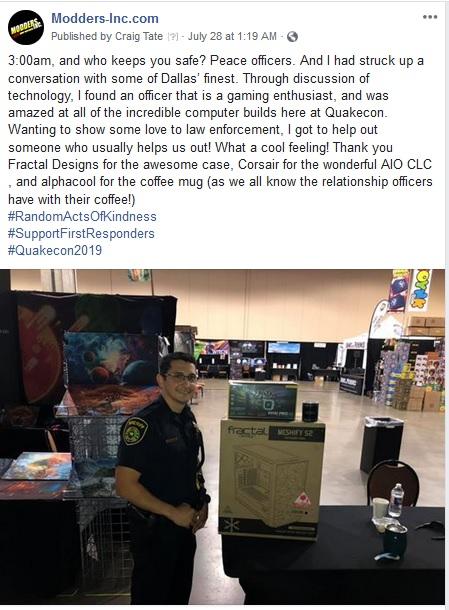 QuakeCon 2019: DOOM and Case Mods RAOC Cop