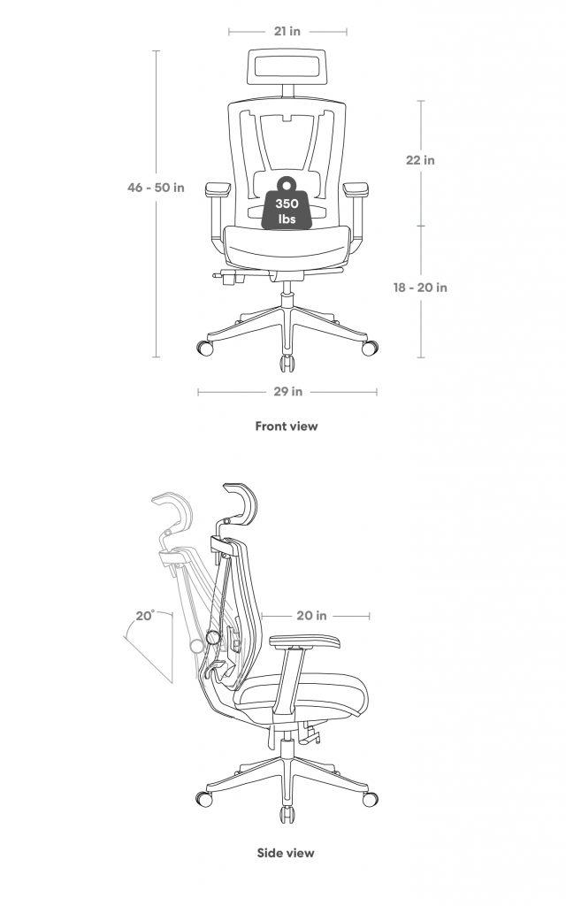 Autonomous ErgoChair 2 Black Edition Autonomous, chair, ergonomic 1