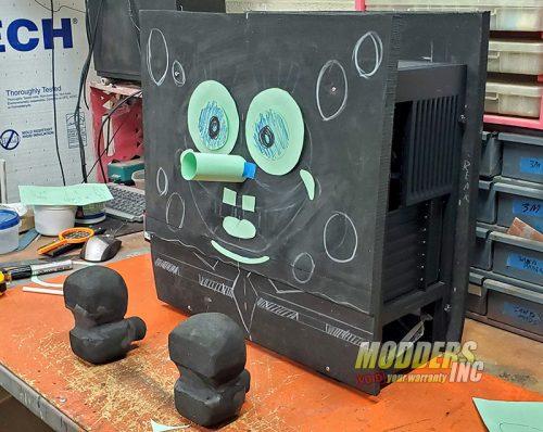 SpongeBob PC Case Mod Case Mod, Custom Case Mod, EVGA, spongebob 2