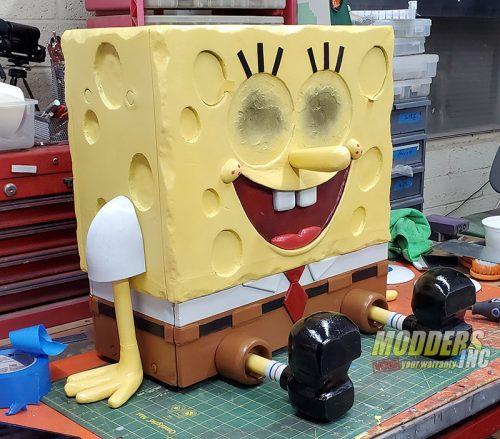 SpongeBob PC Case Mod Case Mod, Custom Case Mod, EVGA, spongebob 5