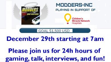 Photo of 24 hours of fun for the kids on twitch.tv/moddersinc