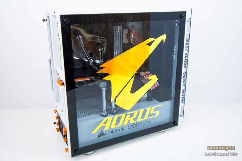 Aorus Z390 Waterforce CES 2020 Build Aorus, Build, cablemod, CES, Corsair, ModMyMods 14