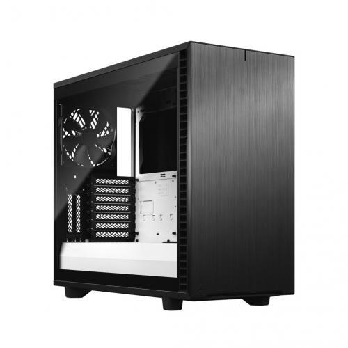 Fractal Design Define 7 Mid Tower Case Define 7 TGC Black White Left Front scaled 1