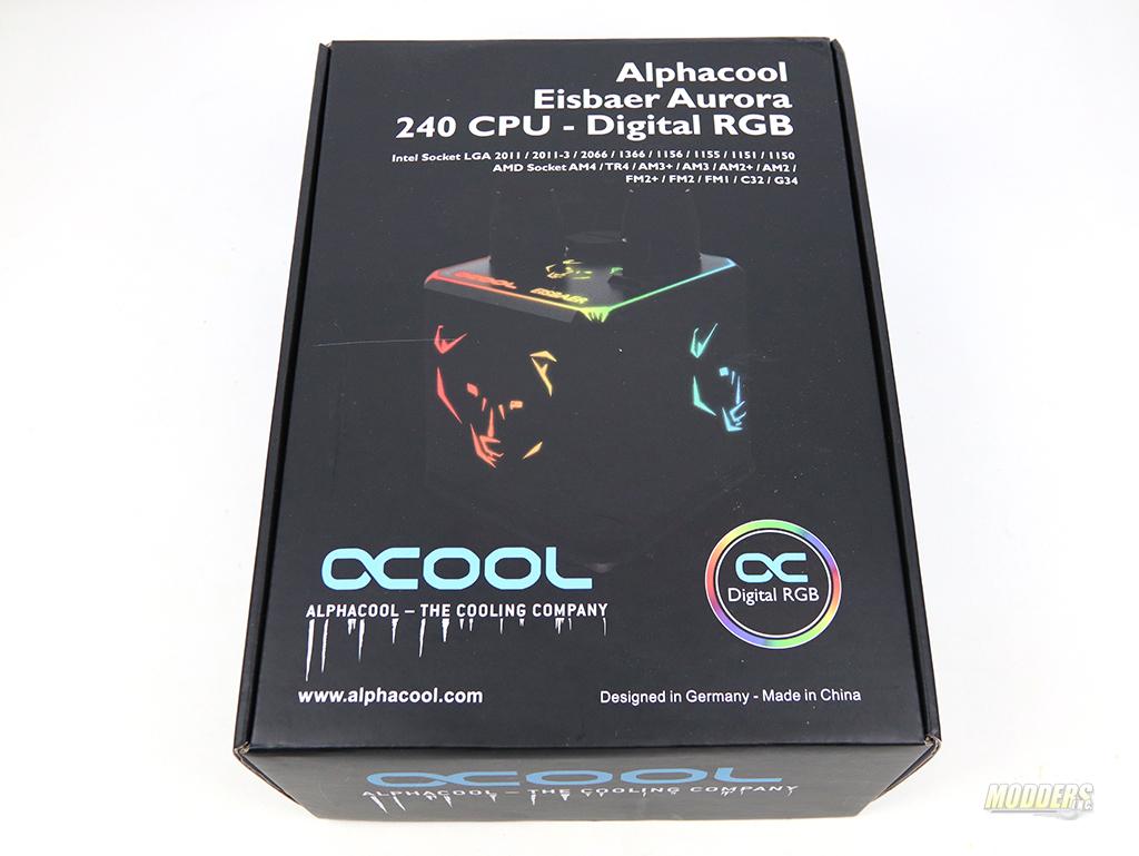 Alphacool Eisbaer Aurora 240 RGB CPU AIO Loop IMG 3005