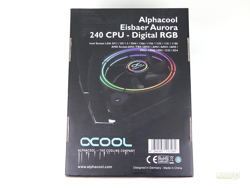 Alphacool Eisbaer Aurora 240 RGB CPU AIO Loop IMG 3008