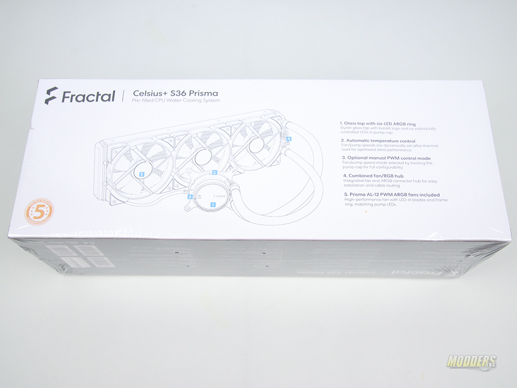 Fractal Design Celsius+ S36 Prisma AIO AIO, all in one, All In One CPU Cooler, ARGB, Celsius+ S36 Prisma AIO, Fractal, fractal design 3