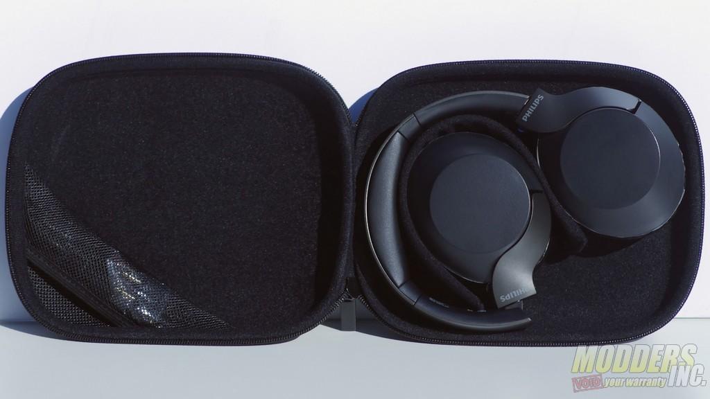 Headphones Inside Travel Case