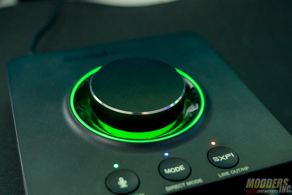 sound blaster X3 green light