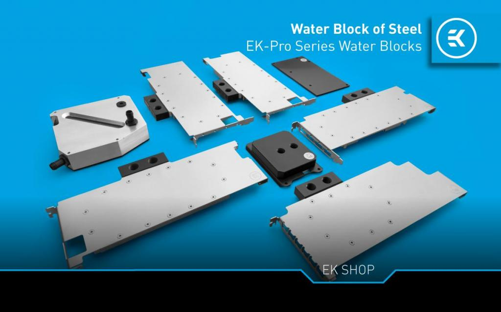 EK Expands Professional Portfolio With New Water Blocks EK Professional line GPUs and Backplates Newsletter Header