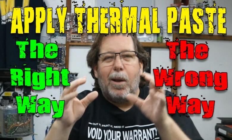 Photo of Applying Thermal Paste on Your CPU, the Video
