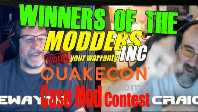 Photo of Case Mod Contest Winners of the QuakeCon at Home Event